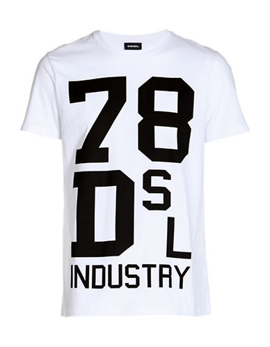 Diesel Diego Graphic Tee-WHITE-Large 89052780_WHITE_Large