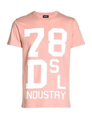 Diesel Diego Graphic Tee-PINK-Small 89050238_PINK_Small