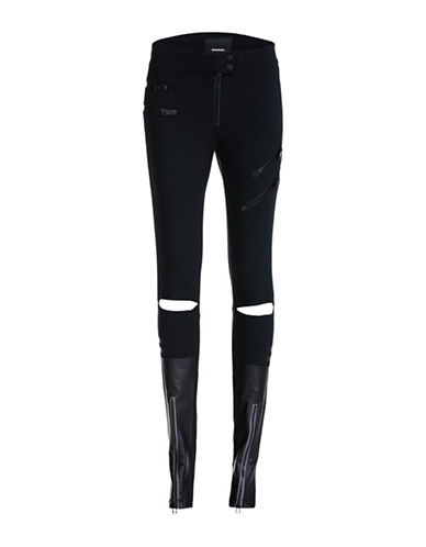 Diesel Skinny Fit Zip Pants-BLACK-31