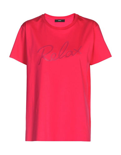 Diesel Relax Cotton T-Shirt-PINK-Medium 89040584_PINK_Medium