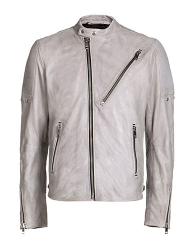 Diesel L-Mackson Leather Jacket-GREY-Small 89052764_GREY_Small
