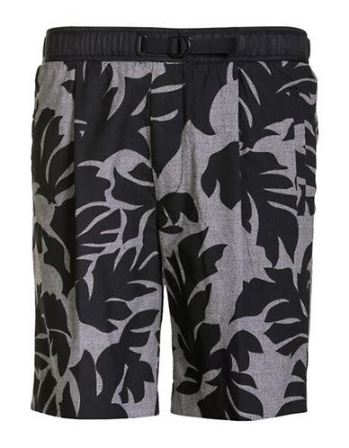 Diesel Pollack Palm Printed Shorts-BLACK-XX-Large 89050290_BLACK_XX-Large