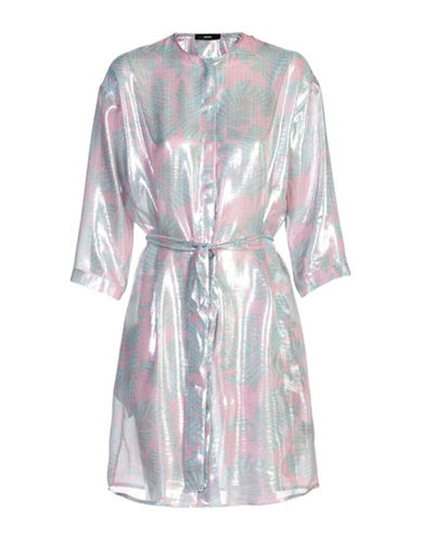Diesel C-Alona Silk-Blend Shirt Dress-PINK MULTI-Small
