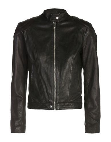 Diesel L-Ginny Leather Jacket-BLACK-Small 89040836_BLACK_Small