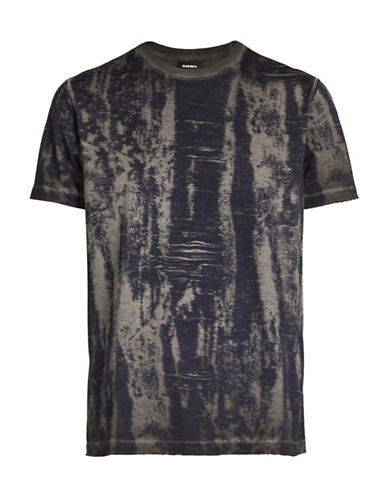 Diesel Wood Grain T-Shirt-BLACK-XX-Large 89053034_BLACK_XX-Large
