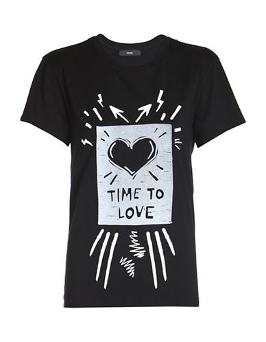 Diesel T-Sully Graphic Printed Tee-BLACK-Small 89040841_BLACK_Small