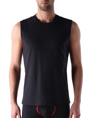 Diesel Stretch Muscle Tank Top-JET BLACK-Small