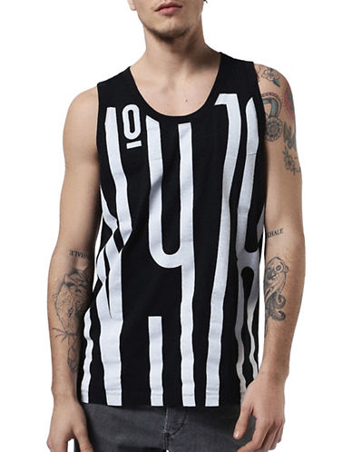 Diesel AAPrinted Tank Top-BLACK-Small 89050320_BLACK_Small