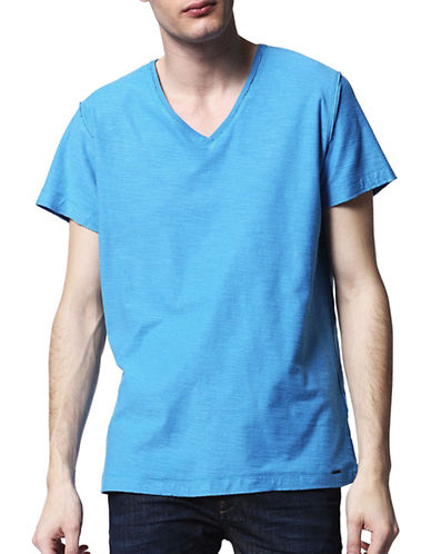 Diesel Court Slub Knit T-Shirt-BLUE-Large 89052736_BLUE_Large