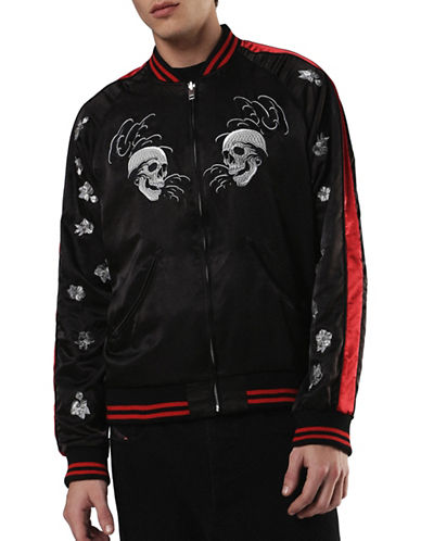 Diesel J-Absu Embroidered Bomber Jacket-BLACK-Small