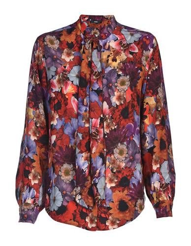 Diesel C-Tapy Floral Shirt-RED MULTI-Large