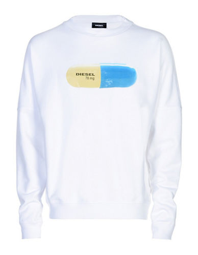 Diesel Kal Crewneck Sweatshirt-WHITE-Small