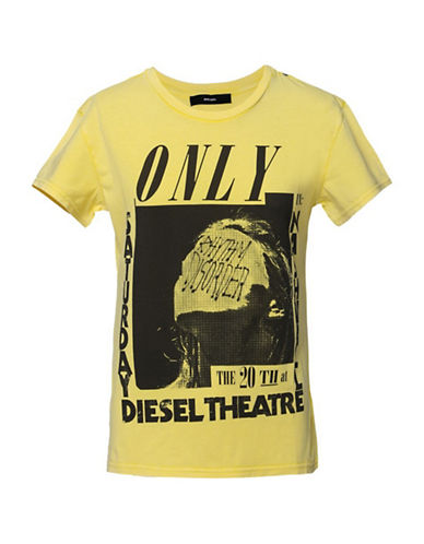 Diesel Sully Tonal Graphic Tee-YELLOW-X-Small