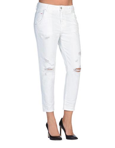 Diesel Fayza-Evo Boyfriend-Fit Jeans-WHITE-26