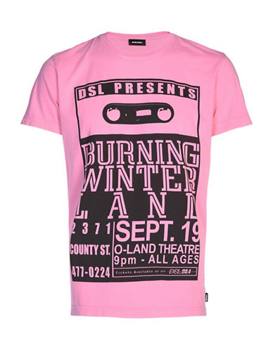 Diesel Regular-Fit Cotton T-Shirt-PINK-Medium 89544880_PINK_Medium