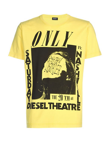 Diesel Vintage Rock T-Shirt-YELLOW-Large