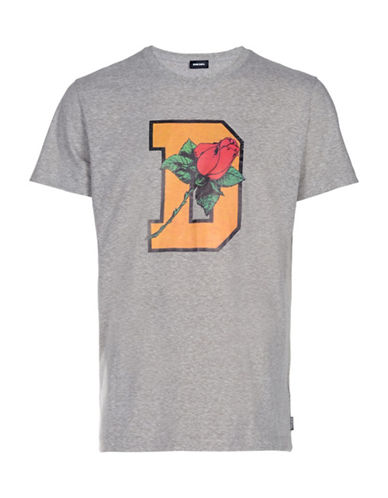 Diesel Rose T-Shirt-GREY-XXLarge