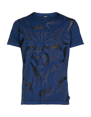 Diesel Diego Slim Fit T-Shirt-BLUE-Small