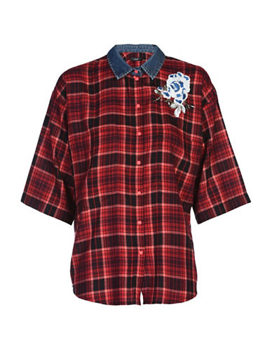 Diesel Lexine Checked Sport Shirt-RED-Medium