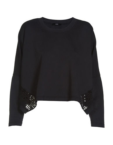 Diesel F-Tara Cotton Sweatshirt-BLACK-Medium