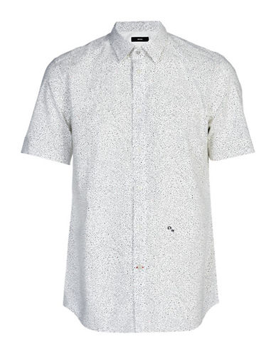 Diesel Dove Microstars Sport Shirt-WHITE-Large