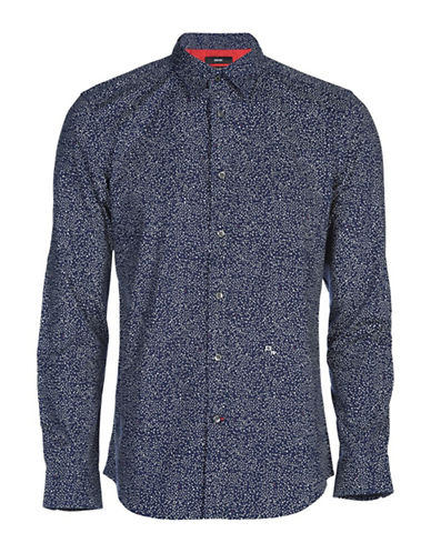 Diesel Dino Microstars Sport Shirt-BLUE-Medium