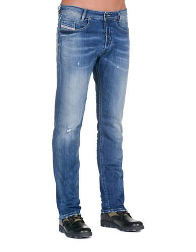 Diesel Akee Ripped Jeans-BLUE-31X32