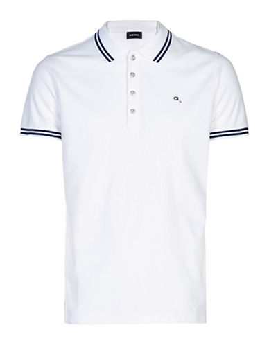 Diesel T-Randy Slim-Fit Polo-WHITE-Small