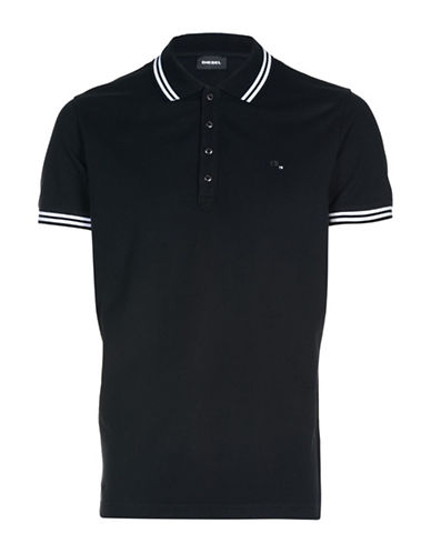 Diesel Randy Slim-Fit Polo-BLACK-Small