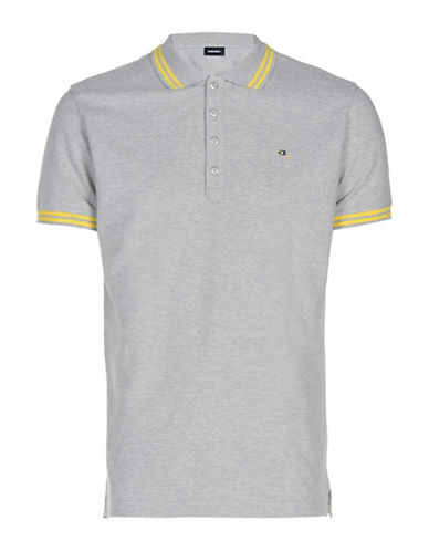 Diesel Randy Slim-Fit Polo-GREY-Medium