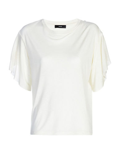 Diesel Peta Cotton Top-WHITE-Small