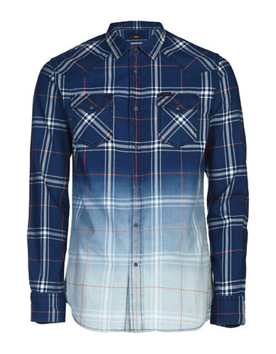 Diesel Courty Plaid Sport Shirt-BLUE-XLarge