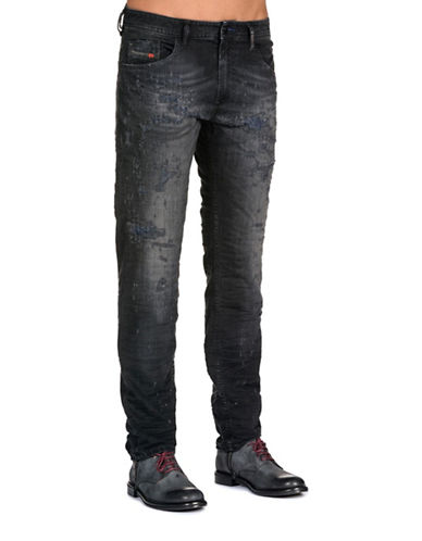 Diesel Thommer Slim-Fit Jeans-BLACK-31X32