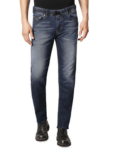 Diesel Waykee-Ne Straight Sweat Jeans-BLUE-36