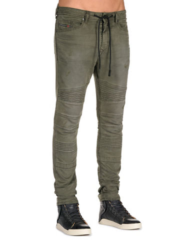 Diesel Bakarine Drawstring Sweat Jeans-GREEN-30
