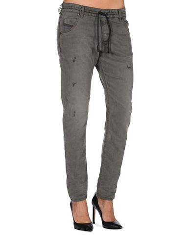 Diesel Krailey Boyfriend-Fit Sweat Jeans-GREY-23
