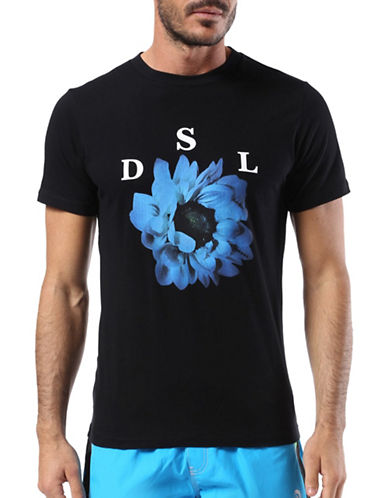 Diesel Bmowt-Parsen Short Sleeve Tee-BLACK-Small