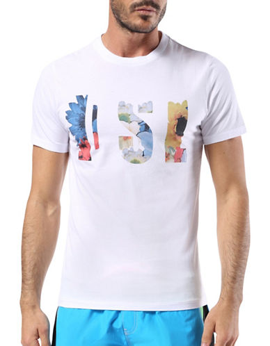 Diesel Bmowt-Parsen Short Sleeve Tee-OFF WHITE-Small