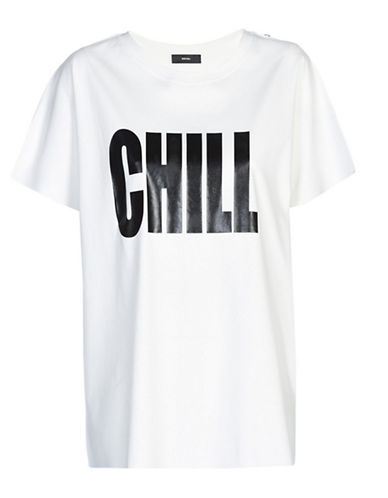 Diesel Hanna Chill Graphic Tee-WHITE-Medium