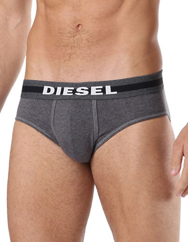 Diesel Jack Elasticized Brief-BLACK-Medium