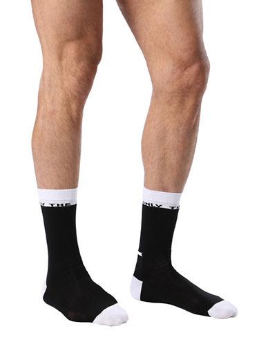 Diesel Three-Pack SKM-Ray Colour Block Socks-BLACK-Large