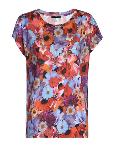 Diesel T-Serra-Ad Floral Blouse-RED MULTI-X-Small