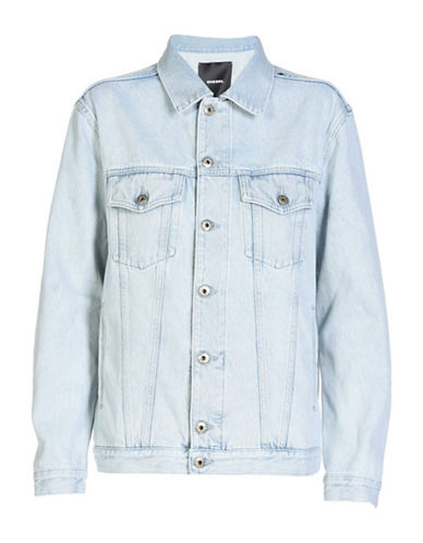 Diesel De-Vise Denim Jacket-BLUE-Medium
