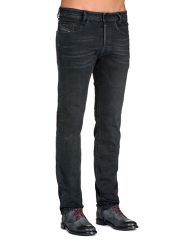 Diesel Slim-Fit Tapered Jeans-BLACK-31X32
