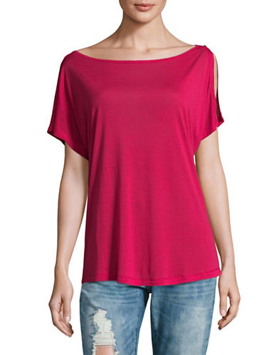 Diesel Cold Shoulder Shirt-BERRY/RED-Large
