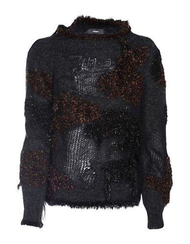 Diesel Frizzy Pullover Sweater-BLACK-Large