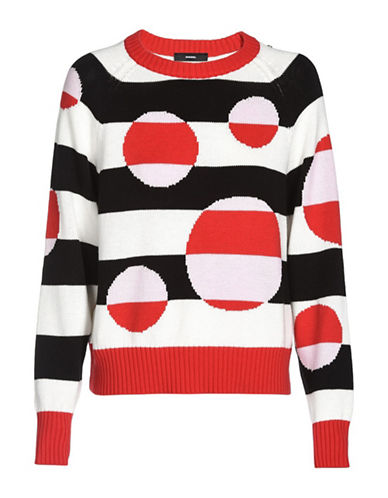 Diesel Intarsia Cotton Sweater-FORMULA RED-Medium