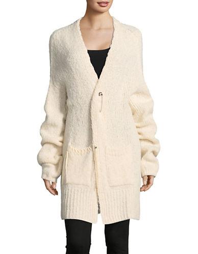 Diesel M-Shapy Wool-Alpaca Knit Cardigan-IVORY-Small