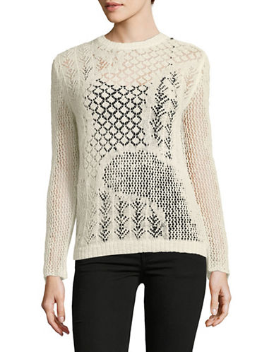 Diesel M-Lithy Mohair-Alpaca Knit Sweater-IVORY-Medium
