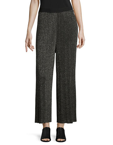 Diesel M-Chicy Glitter Pleated Trousers-BLACK-X-Small